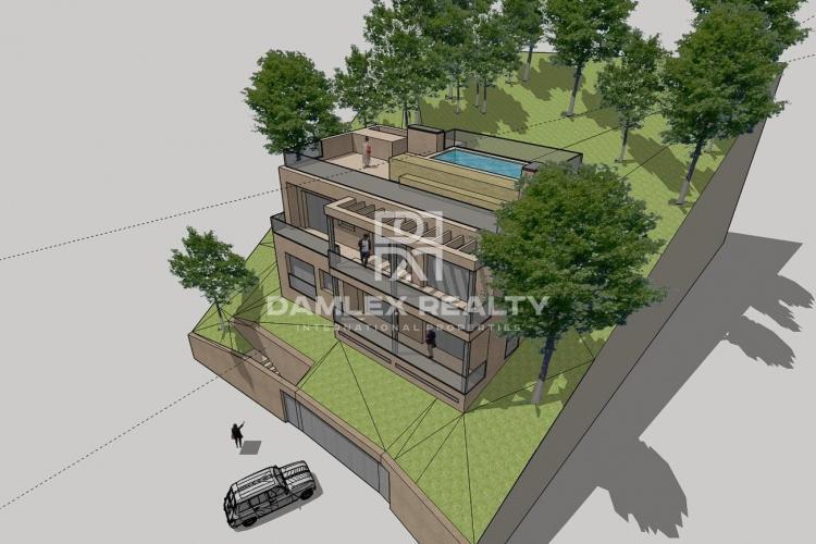 Neubau, Haus mit Pool in Lloret de Mar, in der Urbanisation Los Pinares